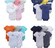 5 Sets of Quality Newborn/ Baby Bodysuits | Children's Clothing for sale in Lagos State, Amuwo-Odofin