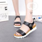 Soft Leather Sandals For Women Black | Shoes for sale in Abuja (FCT) State, Gwarinpa