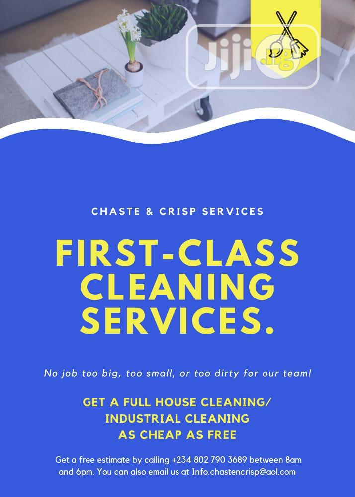 Industrial and House Cleaning Service | Cleaning Services for sale in Ikeja, Lagos State, Nigeria