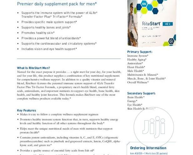 4LIFE Rite Start Men Immune Educator | Vitamins & Supplements for sale in Yaba, Lagos State, Nigeria