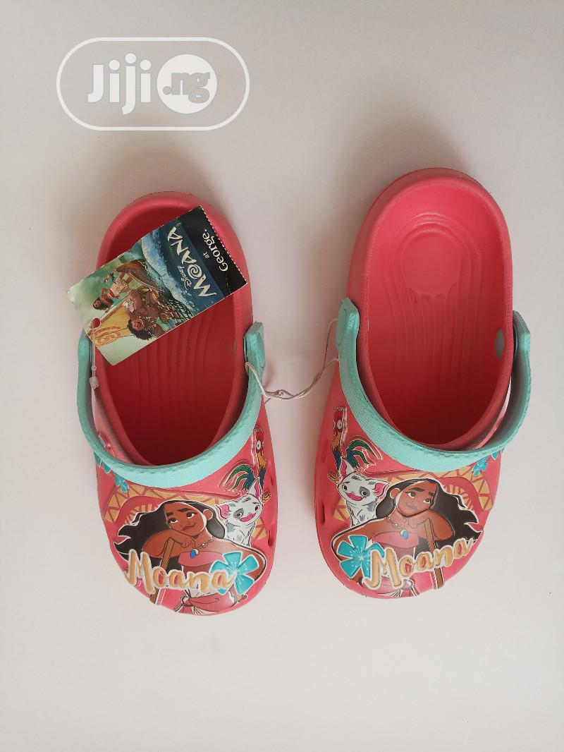 Moana Cartoon Peach Croc for Girls   Children's Shoes for sale in Lagos Island, Lagos State, Nigeria
