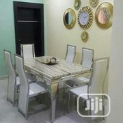 Marble Dinning With 6 Chairs | Furniture for sale in Lagos State, Lagos Island