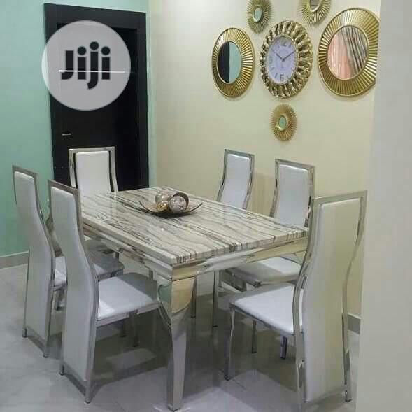 Marble Dinning With 6 Chairs