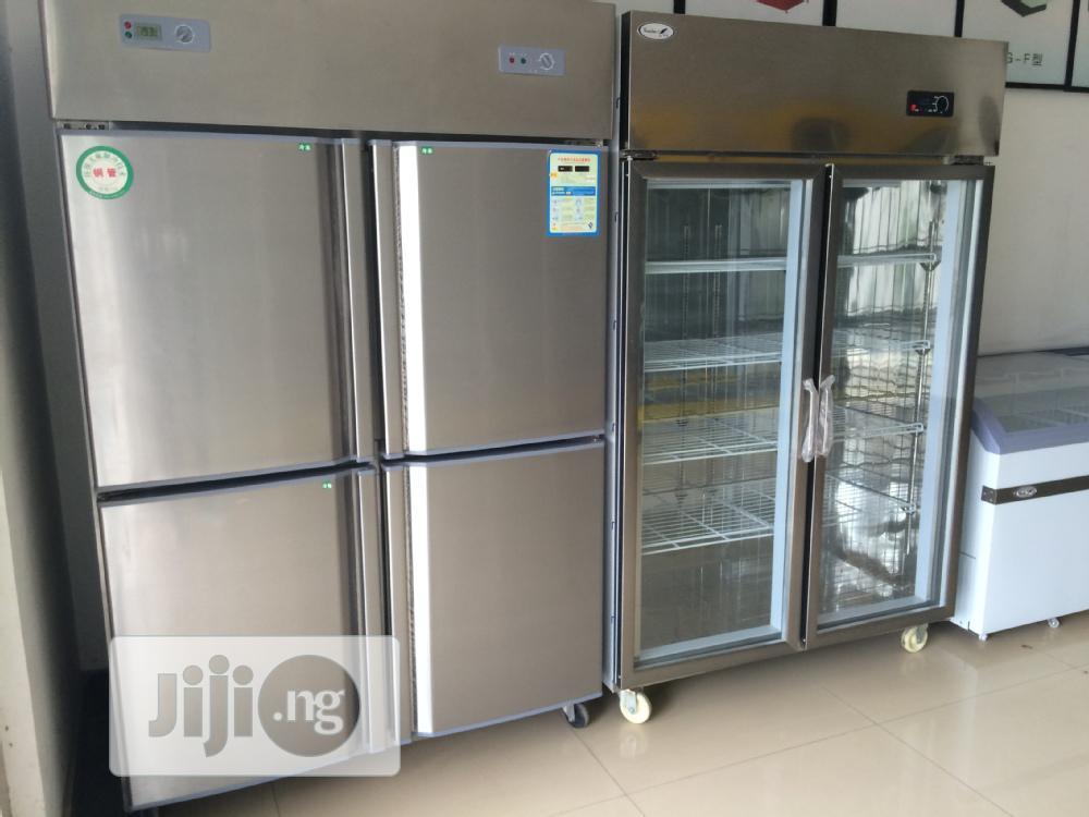 Stainless 4 Door Industrial Standing Freezer