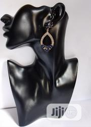 Gold And Blue Dangling Earring | Jewelry for sale in Lagos State, Agboyi/Ketu