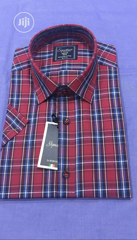 Short Sleeve Men's Checked Shirts | Clothing for sale in Lagos Island (Eko), Lagos State, Nigeria