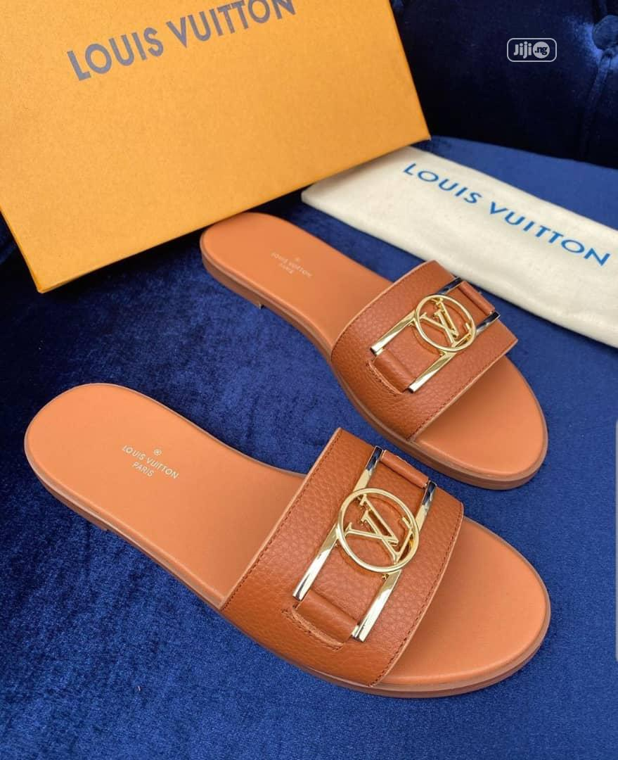 Louis Vuitton Ladies Designer Slippers | Shoes for sale in Magodo, Lagos State, Nigeria