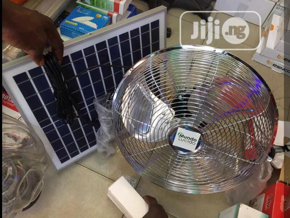 Rechargable Fan With Solar