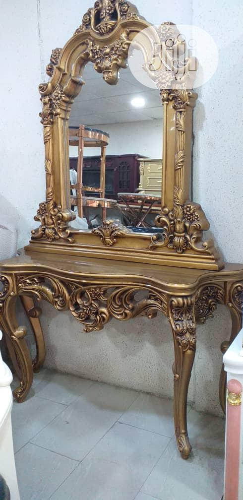 Imported Gold Dressing Mirror