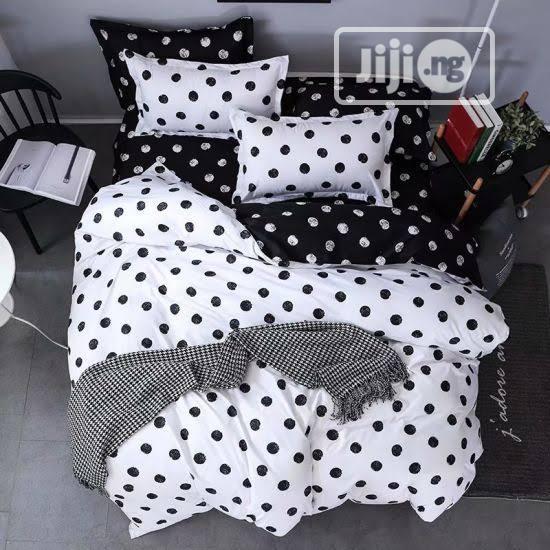 Archive: Black and White Polka Dot Bedsheet + Duvet/Comforter