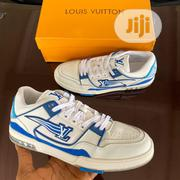 Louis Vuitton FF-2020 Trainers Low Cut White-blue Sneakers Original | Shoes for sale in Lagos State, Surulere