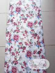 Flowery White Crepe Material | Clothing for sale in Lagos State, Surulere