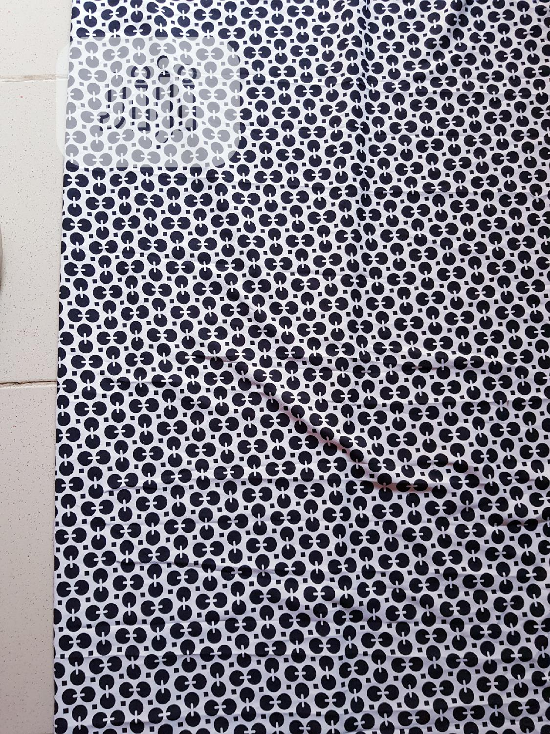 Archive: White And Black Crepe Material
