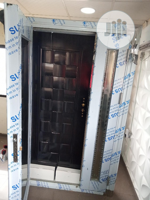 4ft Stainless Glass Door