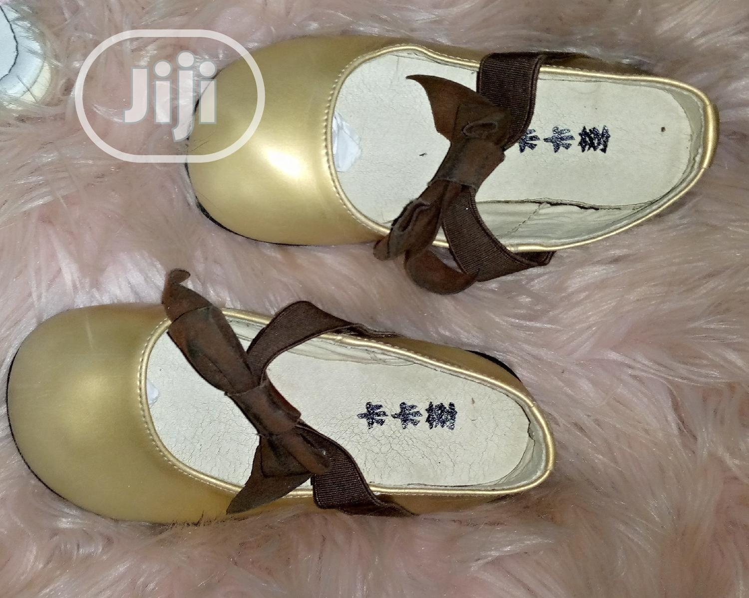 Gold Baby Shoe