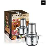 3 Liters Sokany Stainless Food Prosessor | Kitchen Appliances for sale in Lagos State, Lagos Island