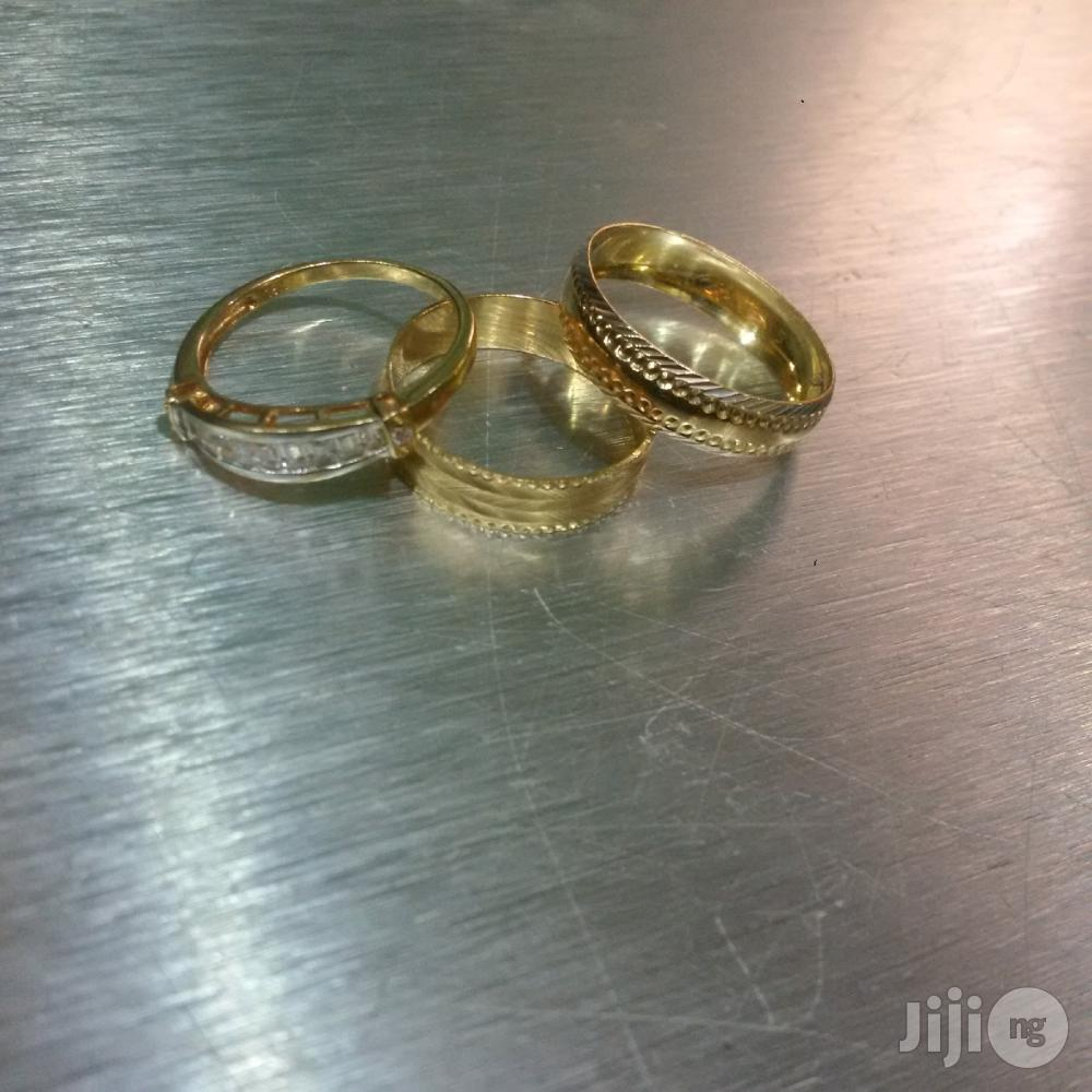 Tested 18 Karat Solid Gold Wedding Ring Set