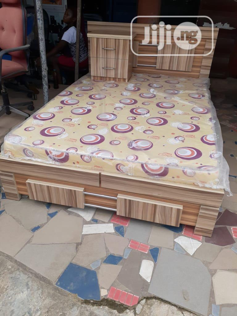 4nd Half by 6 Bedframe Nd One Bed Side,And Original Mouka Mattress