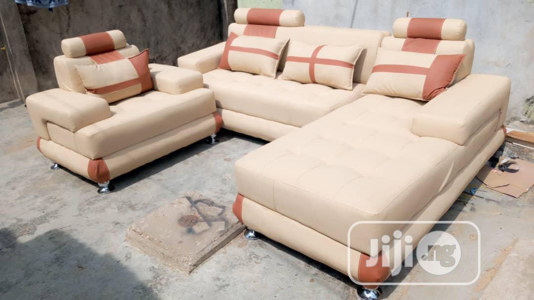 L Shaped Leather Sofa | Furniture for sale in Ikeja, Lagos State, Nigeria