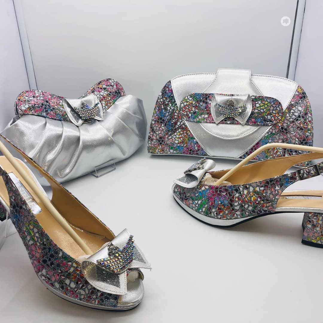 Silver Italian Shoe and Bag