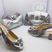 Silver Italian Shoe and Bag | Shoes for sale in Lagos State, Lagos Island