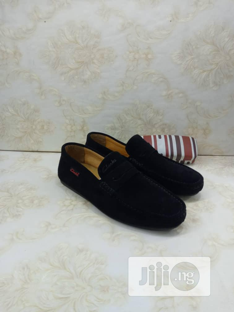 Clarks Leather Suede Loafers Flat Shoes