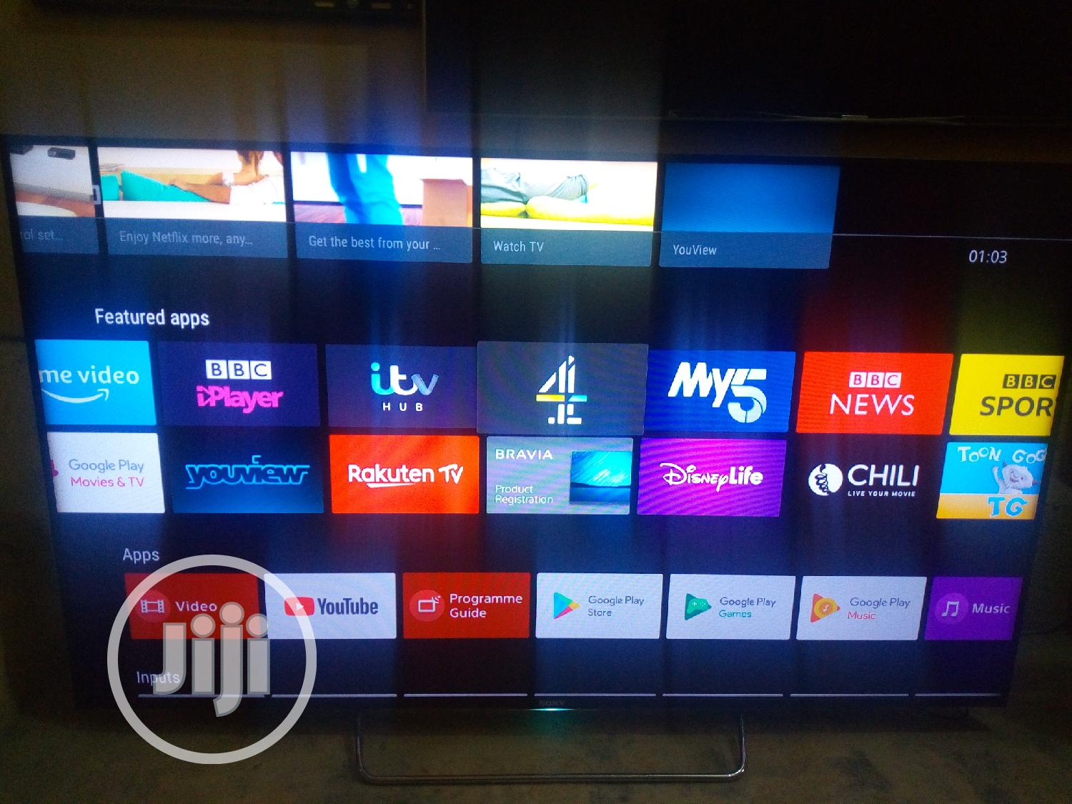 """London Used 65"""" Sony Android Tv   TV & DVD Equipment for sale in Ojo, Lagos State, Nigeria"""