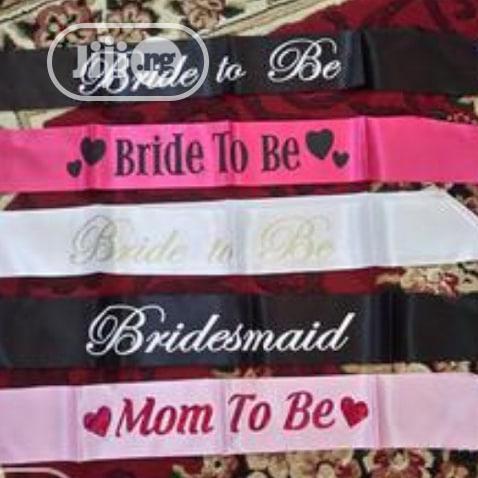 Bride To Be, Birthday & Mum To Be Sash