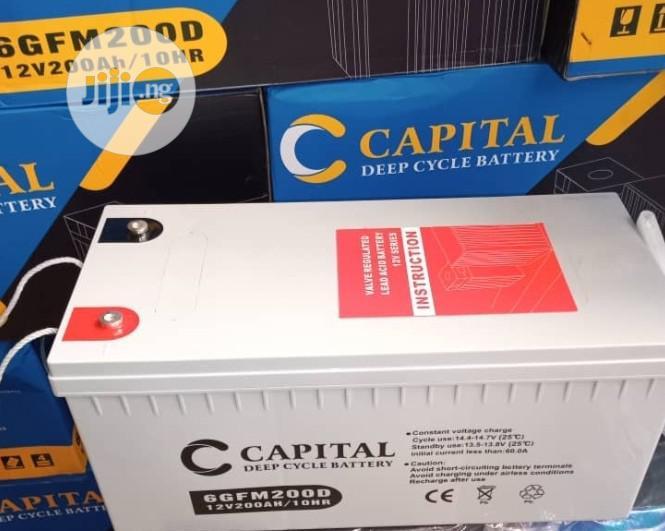 12V 200AH Capital Solar Battery