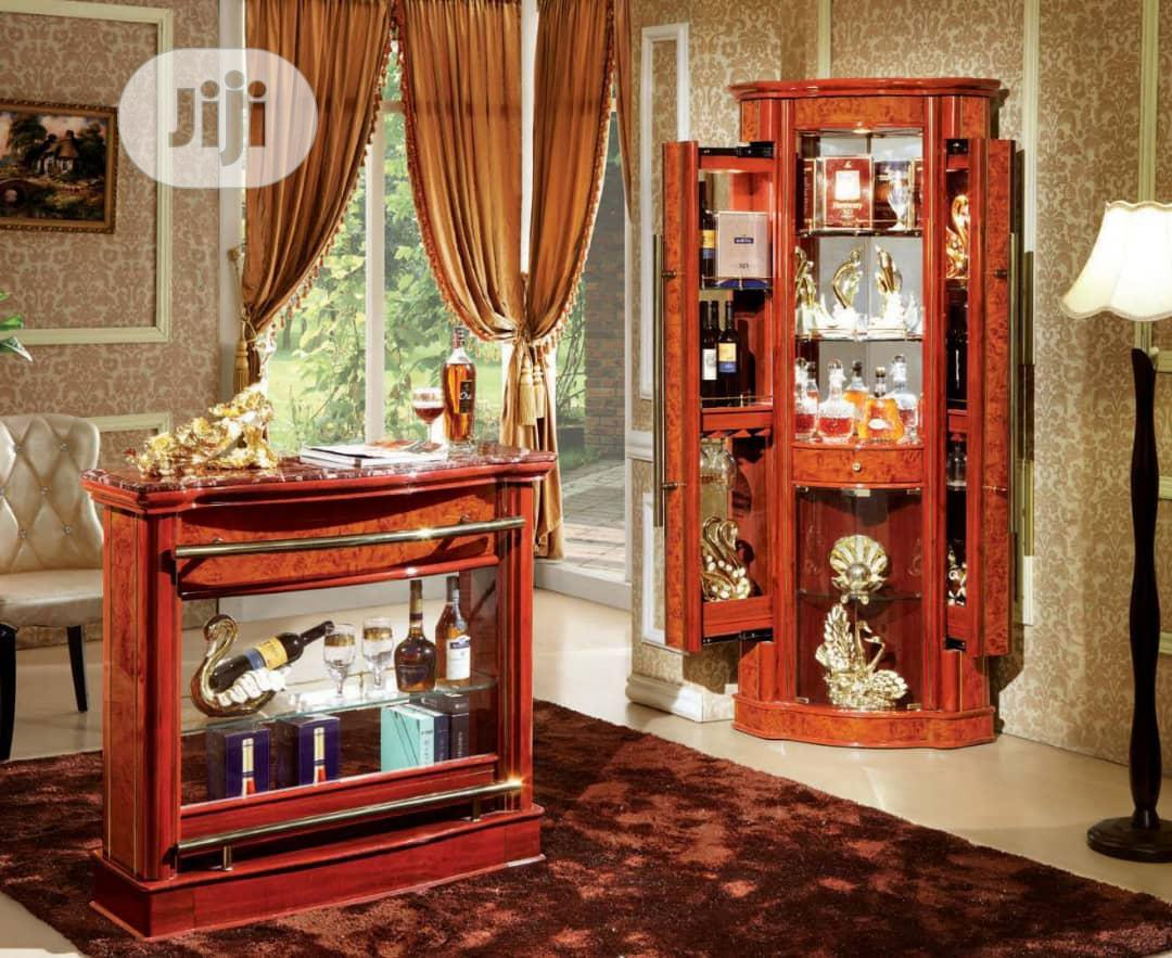 Brown Wine Bar With Counter