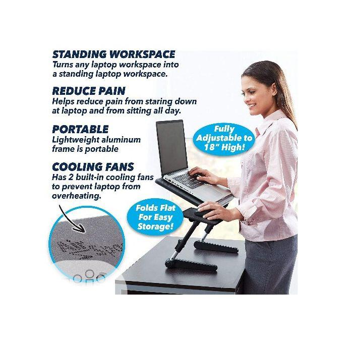 Airspace Adjustable Laptop Desk Wt Mouse Pad & Cooling Fan   Computer Accessories  for sale in Ikeja, Lagos State, Nigeria