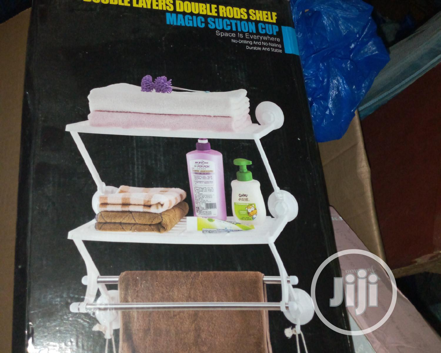 Archive: Double Layer Bathroom Rack & Towel Hanger