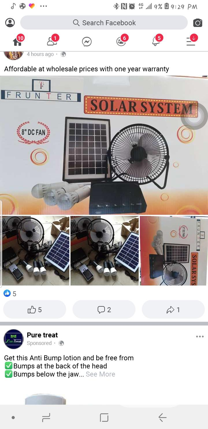 Solar Lights and Fan