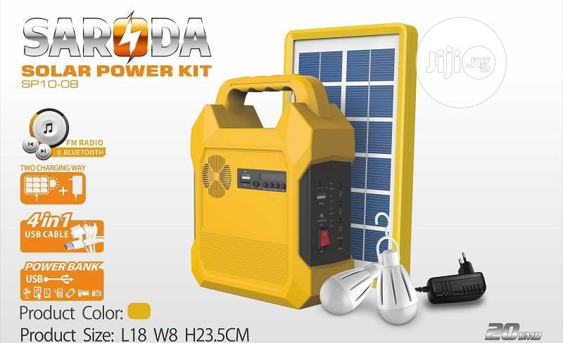 Saroda Solar Generator Kit USB Port And 3DC Jacks For Bulbs