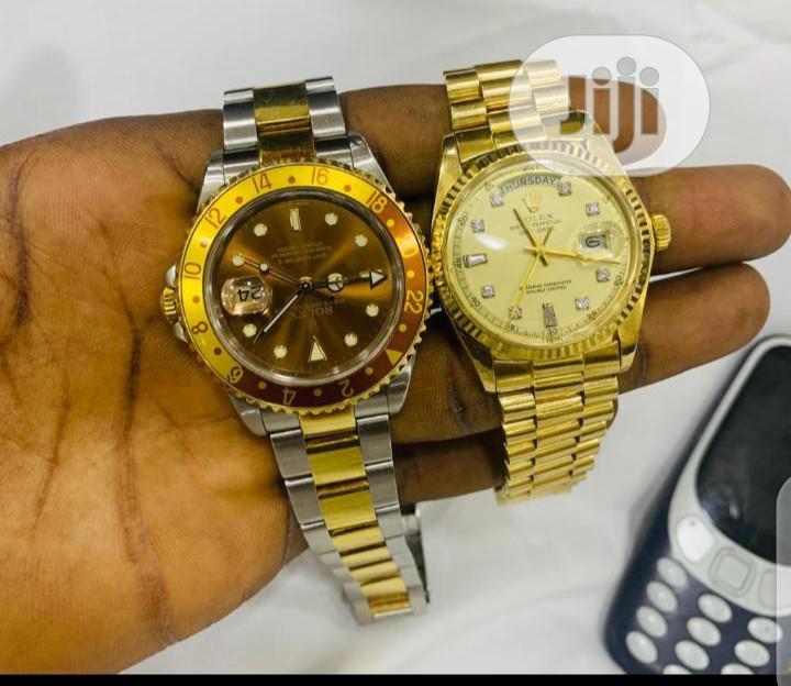Purr Real Gold 750 Italy 18karat Rolex Watch