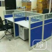 Blue Workstation By 4 Seater   Furniture for sale in Lagos State, Ojo