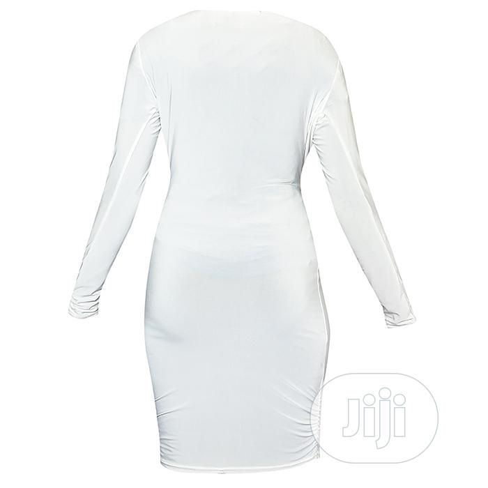 White Gown With Belt | Clothing for sale in Ajah, Lagos State, Nigeria