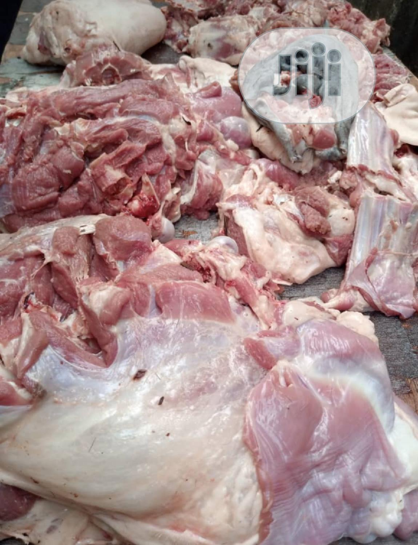 Portions Of Freshly Killed Goat