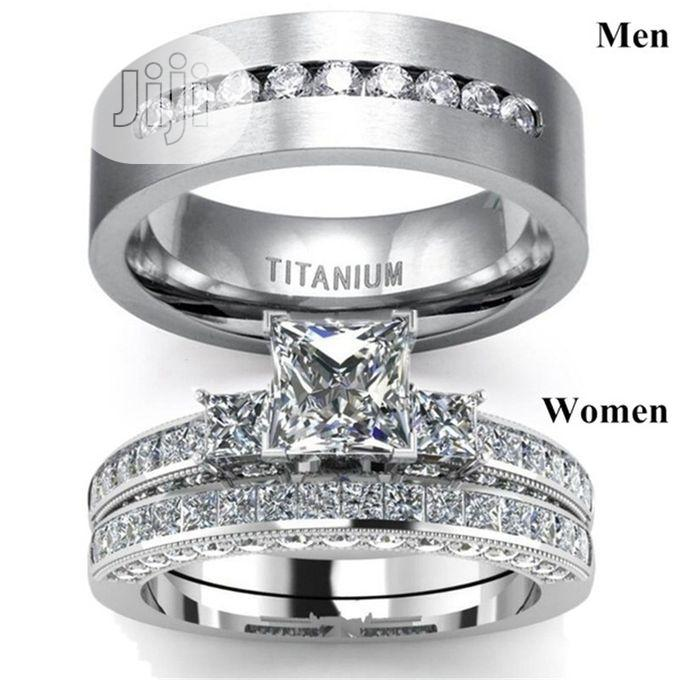Archive: Men and Women Couple Ring Set Jewelry Titanium Wedding Rings