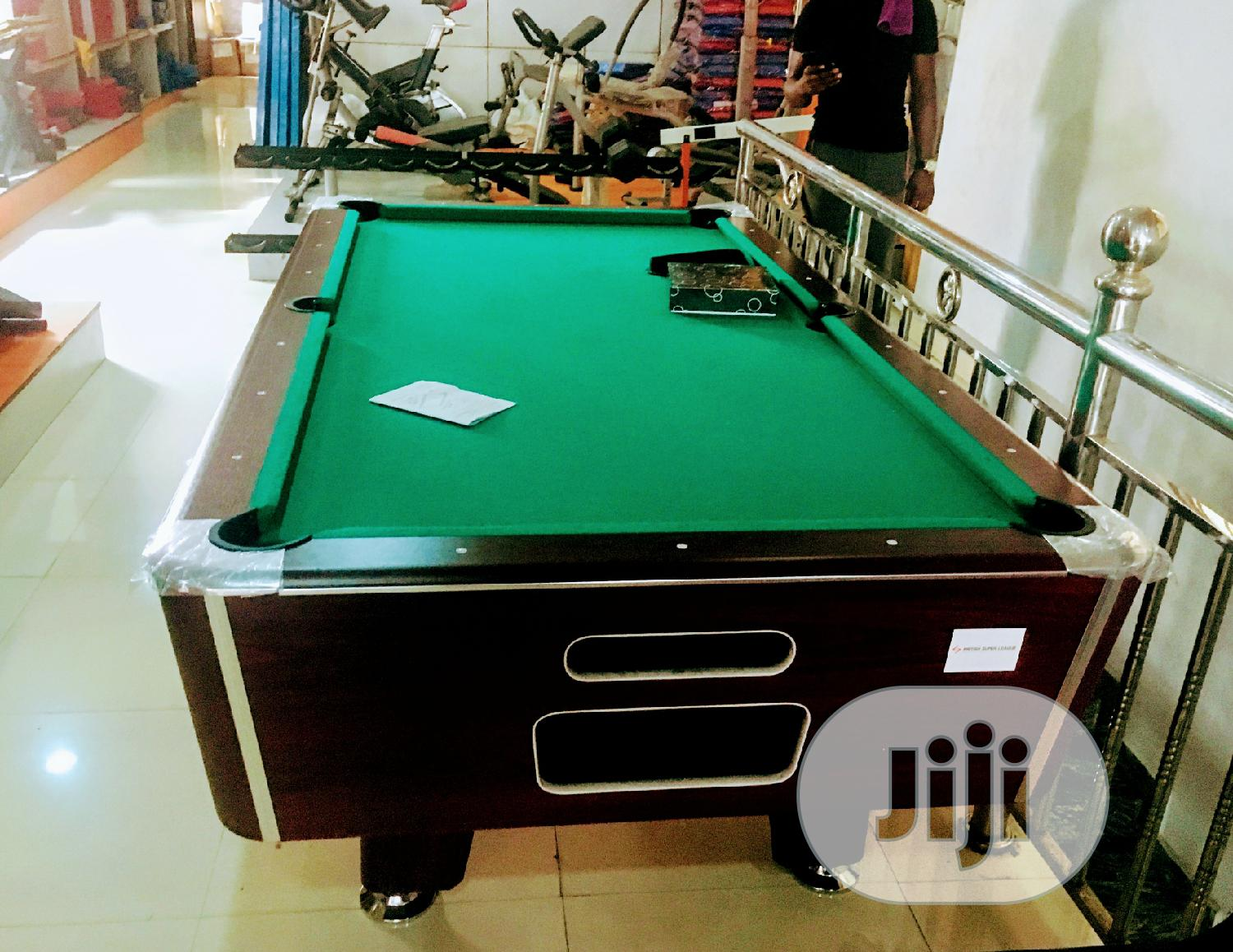 American Premium Coin Operated 8 Feet Marble Snooker Table