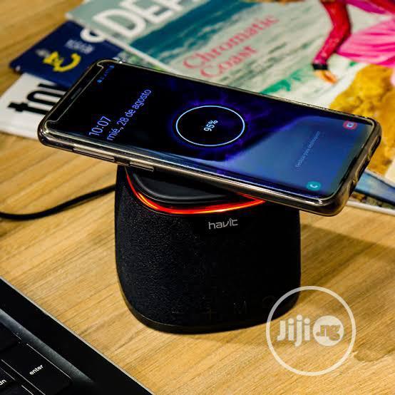 HAVIT M1 Bluetooth Speaker Qi Wireless Charger Mini Heavy Bass Stereo
