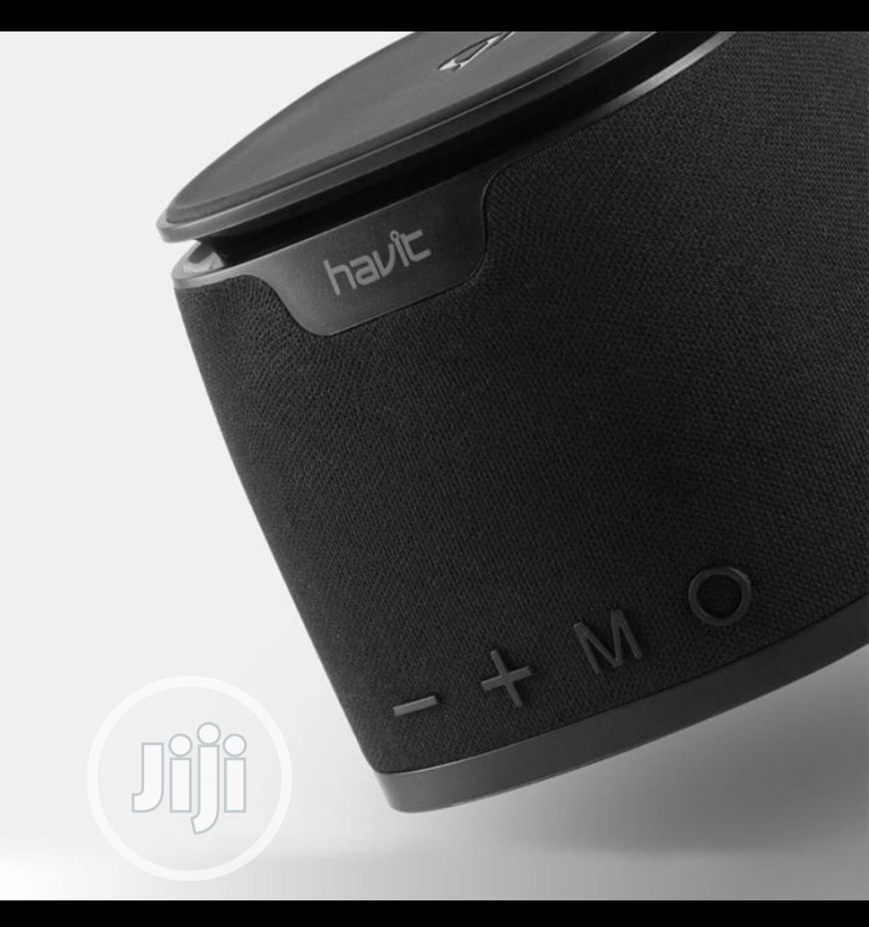 HAVIT M1 Bluetooth Speaker Qi Wireless Charger Mini Heavy Bass Stereo | Audio & Music Equipment for sale in Ikeja, Lagos State, Nigeria