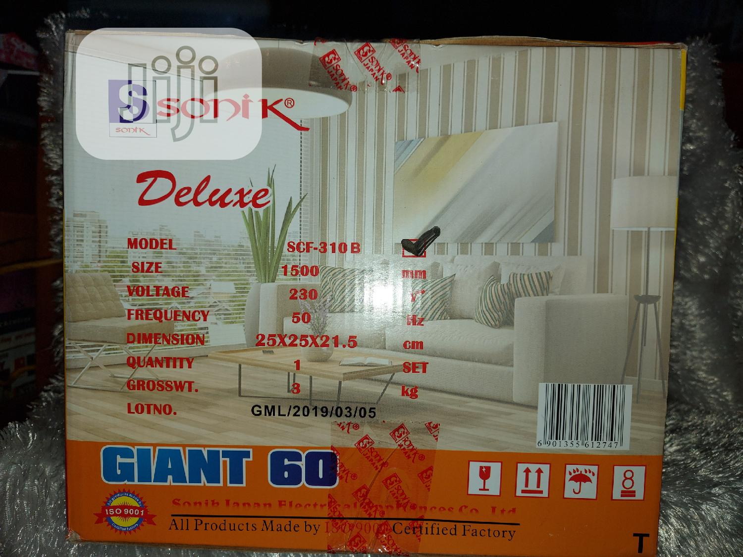 Sonik Deluxe Giant 60 Inches Ceiling Fan | Home Appliances for sale in Ikotun/Igando, Lagos State, Nigeria