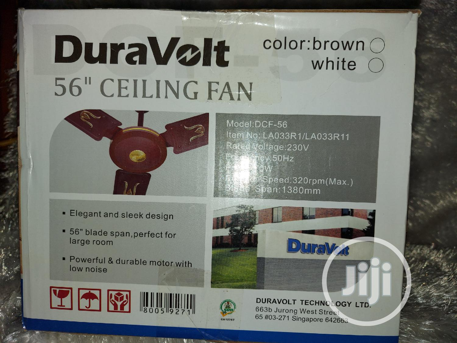 "Duravolt 56"" Ceiling Fan 