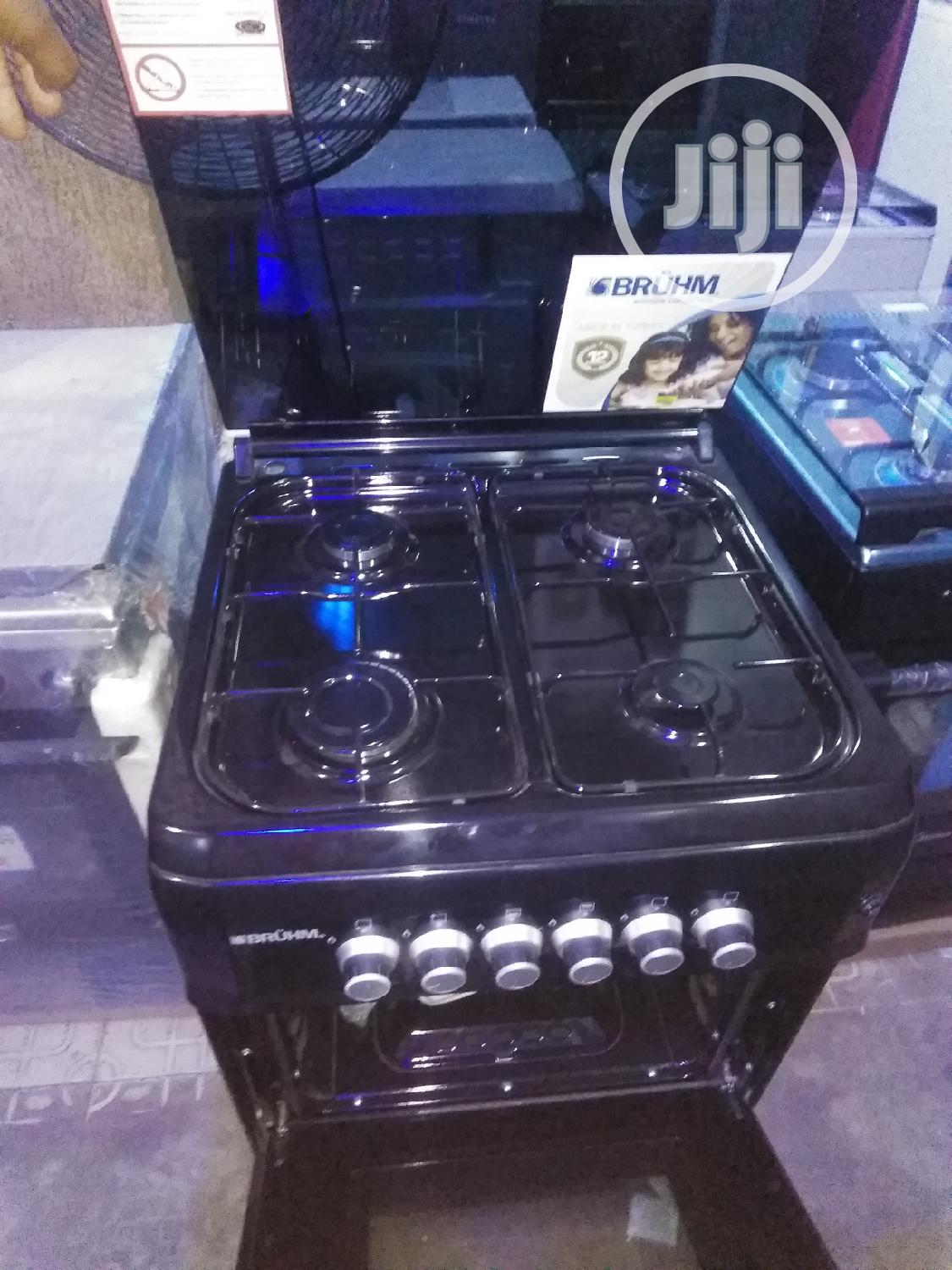Bruhm 60*60 Anti Rust Gas Cooker, Oven And Grill, 2yrs Warranty.
