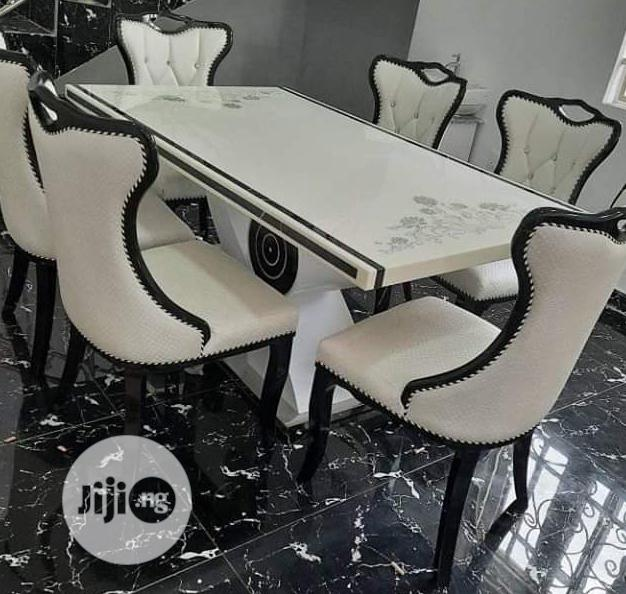 Brand New Royal Cristal Marble Dining Table By-6