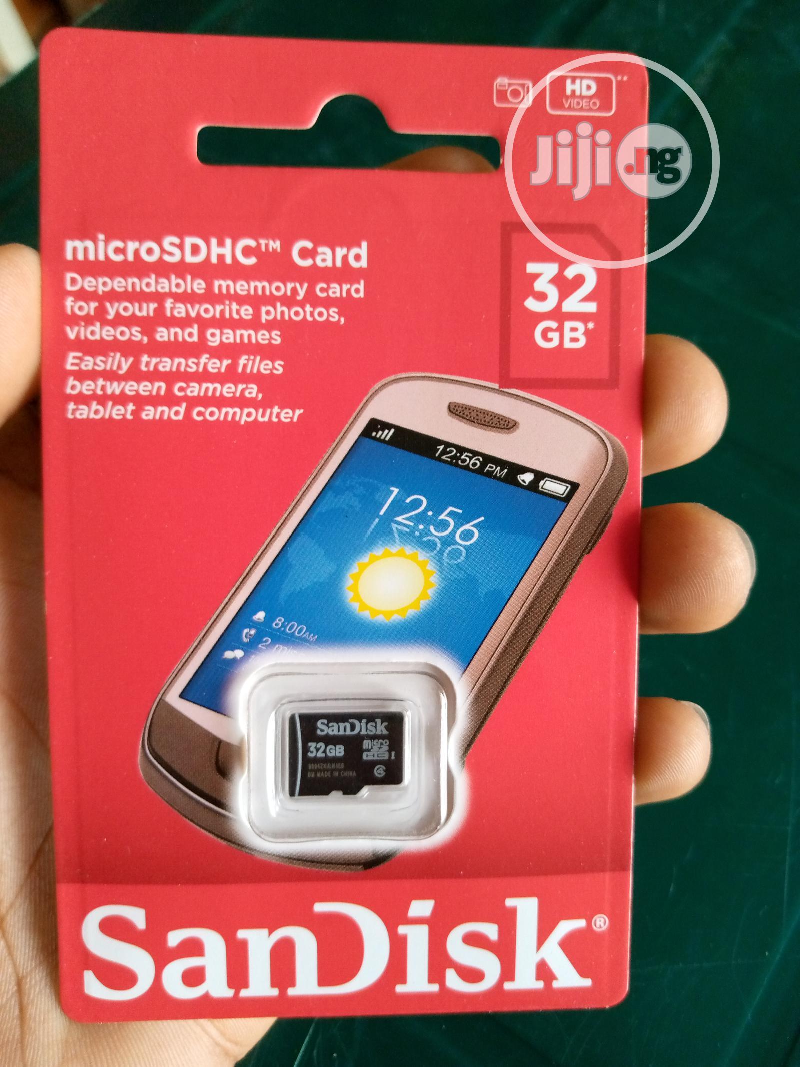 Memory Card 32gb Sandisk