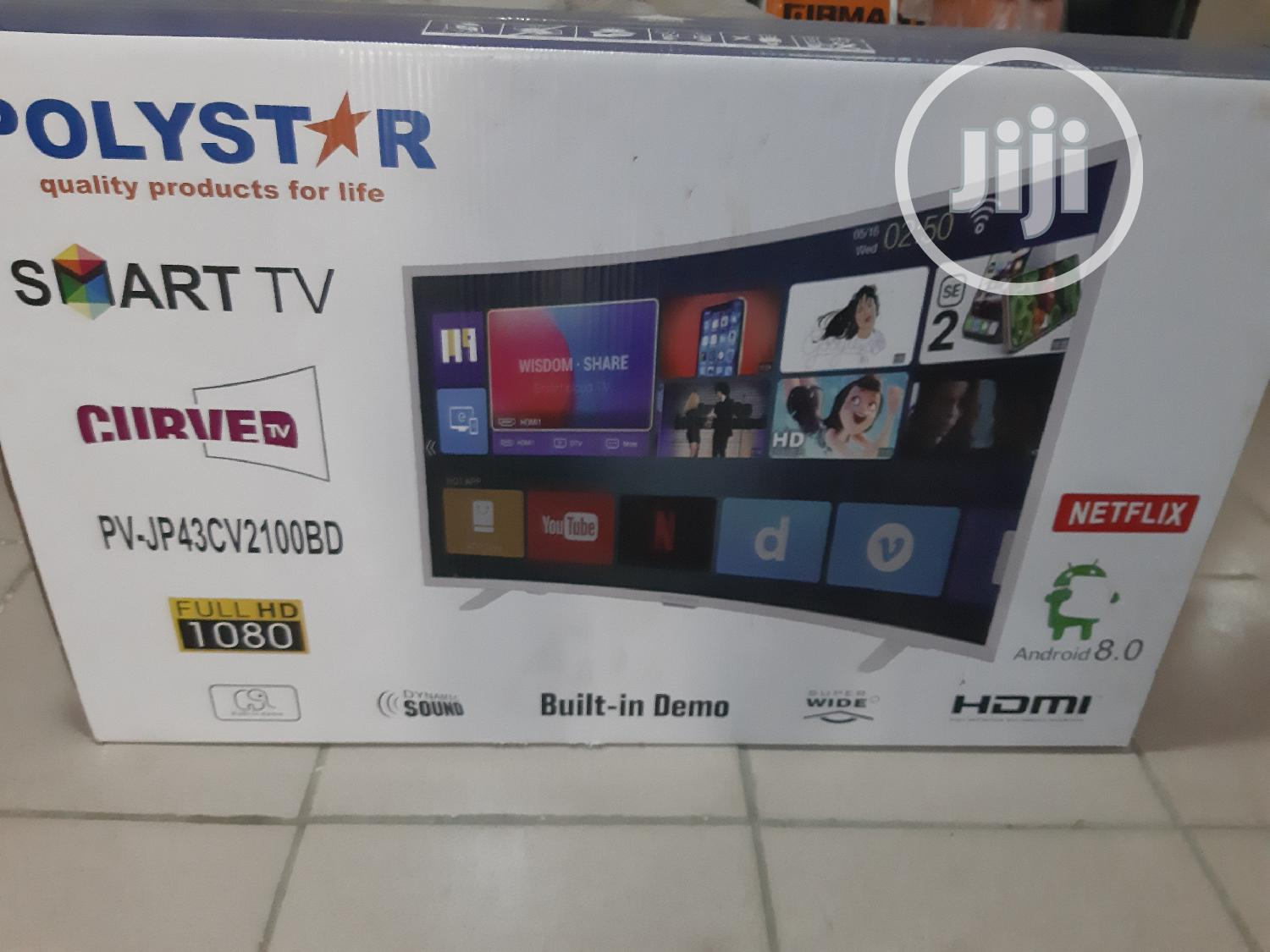 """Polystar 43""""Curved Smart Android TV"""