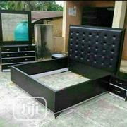 (6×6) Bedframe With Two Bedside And Dressing Mirror | Home Accessories for sale in Lagos State, Ojo