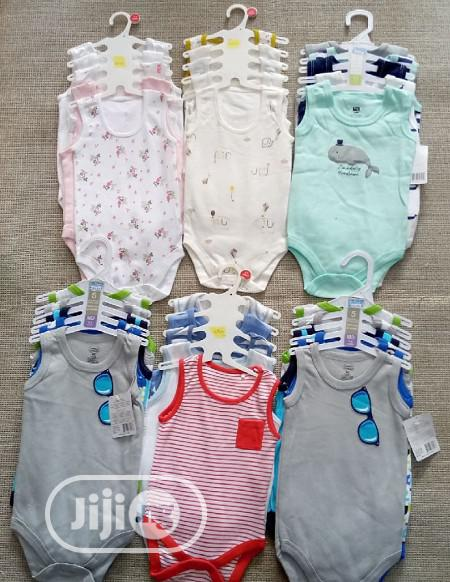 Luvable Friends 5 in 1 Baby Bodysuit Sleveless, Long Short   Children's Clothing for sale in Ajah, Lagos State, Nigeria